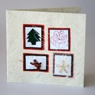 Christmas Present Themed recycled paper Christmas Card