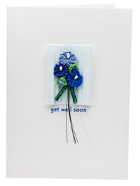 Blue Asters- Get well soon card
