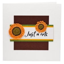 Just a Note greetings card with Sunflowers