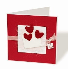 Pocket of Love on Red Valentines or engagement Card